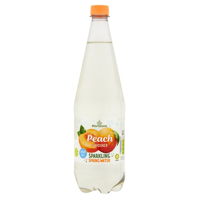 Morrisons No Added Sugar Sparkling Peach Spring Water