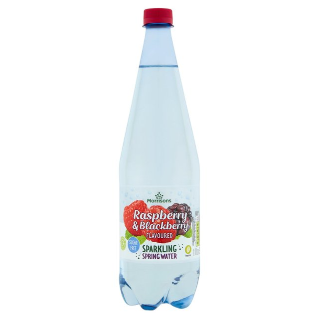 Morrisons No Added Sugar Sparkling Raspberry & Blackberry Spring Water