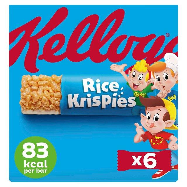 Morrisons: Kellogg's Rice Krispies Cereal & Milk Bars 6 X