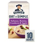 Quaker Oat So Simple Sultanas & Raisins Porridge 10x38.5g