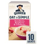 Quaker Oat So Simple Strawberry Raspberry & Cranberry Flavour Porridge