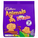 Cadbury Animals Milk Chocolate Biscuits Mini Bags 6 Pack
