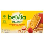 Belvita Breakfast Duo Crunch Strawberry & Yogurt Biscuits