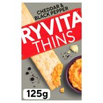 Ryvita Cheddar & Black Pepper Thins