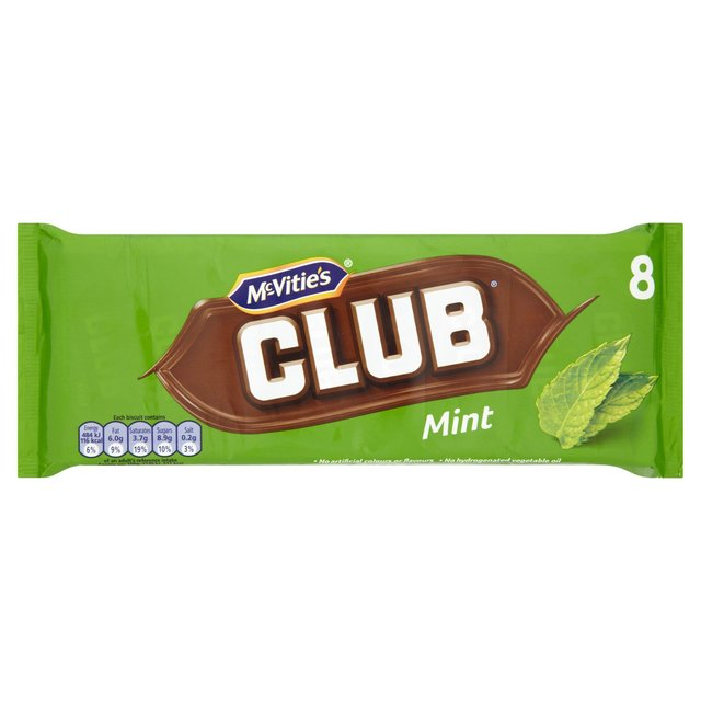 McVitie's  Mint Clubs 8 Pack