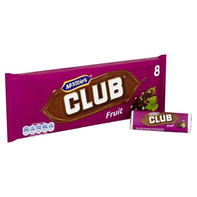 McVitie's Fruit Club 8 Pack