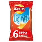 Walkers Simply Salted Flavour Lights Crisps Multipack