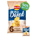 Walkers Cheese & Onion Flavour Baked Crisps Multipack