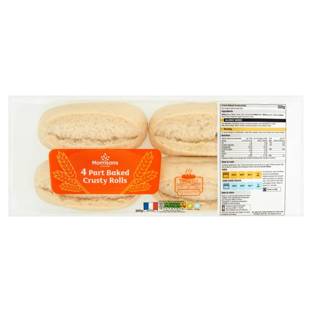 Morrisons Bake at Home Crusty White Rolls