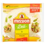 Mission Wheat & White Deli Wraps