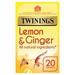 Twinings Revitalise Lemon & Ginger Herbal Tea Bags 20s