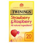 Twinings Strawberry & Raspberry Tea Bags  20s