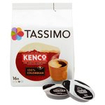 Tassimo Kenco 100% Colombian Coffee Pods 16s
