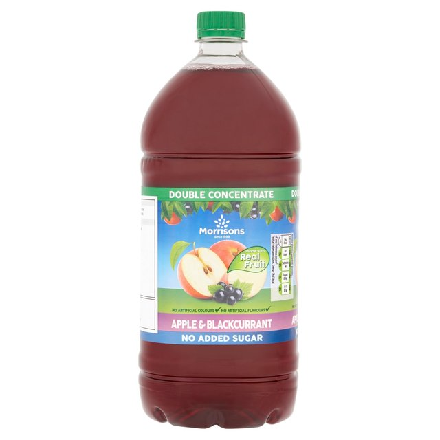 Morrisons No Added Sugar Double Concentrate Apple & Blackcurrant Squash