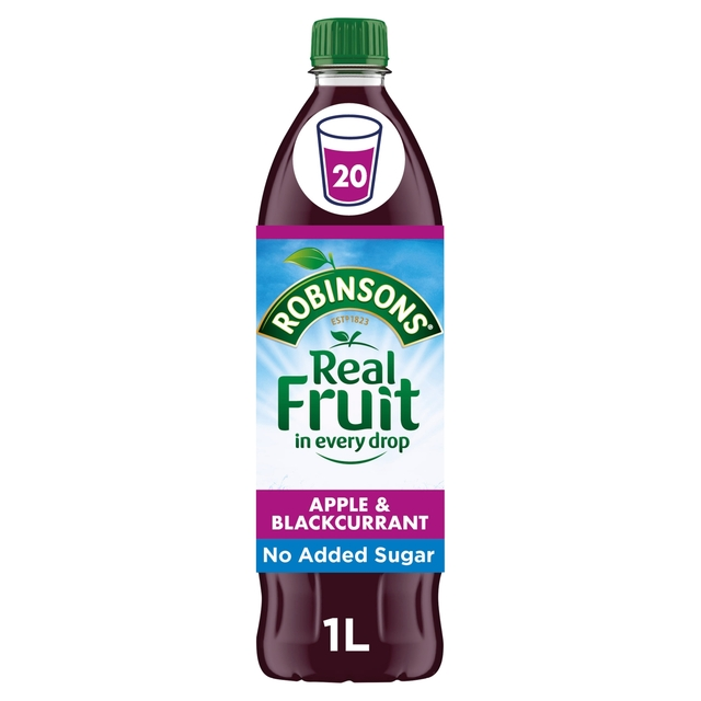 morrisons robinsons no added sugar apple blackcurrant