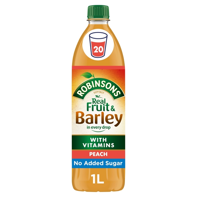 Robinsons No Added Sugar Peach Fruit & Barley