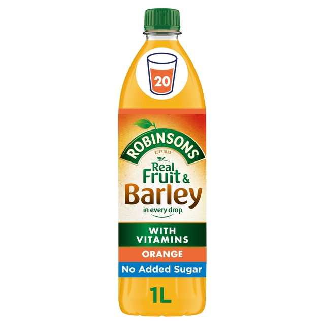 Robinsons Fruit & Barley Orange Squash No Added Sugar