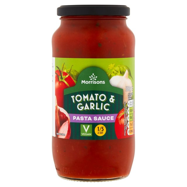 Morrisons: Morrisons Tomato & Garlic Pasta Sauce (Product Information)
