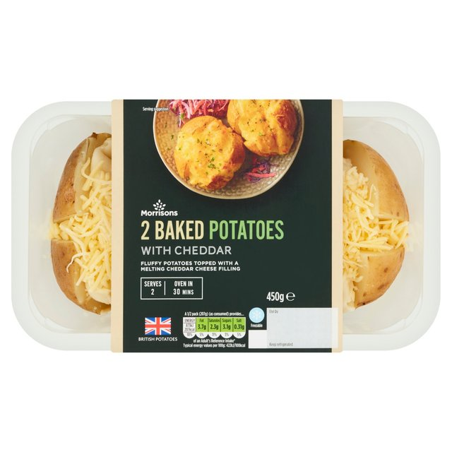 Morrisons 2 Baked Potatoes with Cheddar