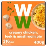 Weight Watchers Chicken, Leek & Mushroom Pie
