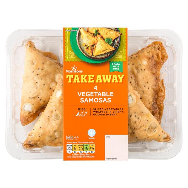 Morrisons Indian Takeaway Vegetable Samosas