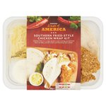 Morrisons Kitchen Tex Mex Southern Fried-Style Chicken Wrap Kit