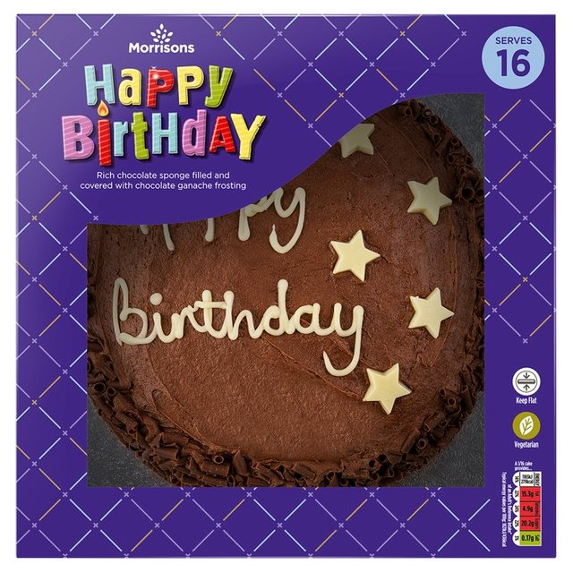 Morrisons Morrisons Chocolate Happy Birthday Cake Product Information