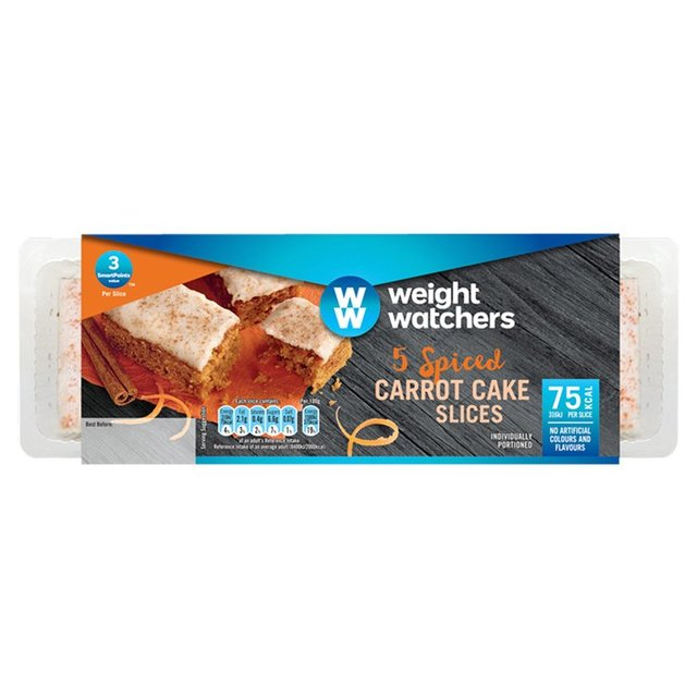 Morrisons Weight Watchers 5 Spiced Carrot Cake Slices 5 Per Pack