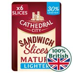 Cathedral City 6 Slices Lighter Cheese