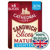Cathedral City Lighter Mature Cheddar 8 Slices