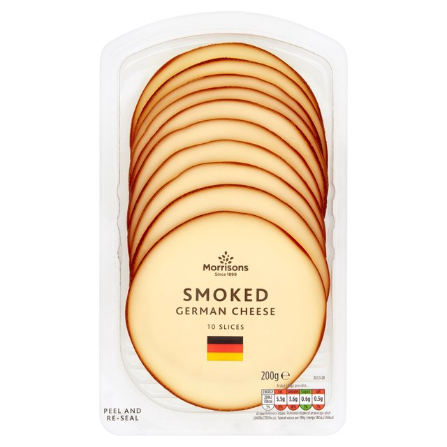 Morrisons 10 Slices German Smoked Cheese