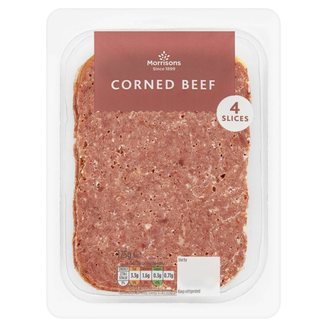 Morrisons morrisons corned beef 4 slices 125g product for What to do with salt beef