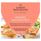 Castle MacLellan Scottish Smoked Salmon Pâté with Lemon Juice & Horseradish