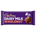 Cadbury Dairy Milk Whole Nut Chocolate Bar