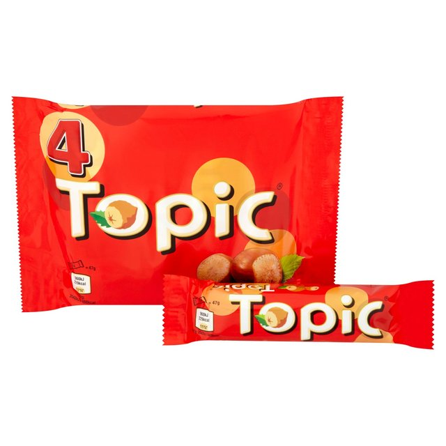 Morrisons Topic Chocolate Multipack Bars 4 X 47gproduct