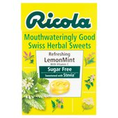 Ricola Mouthwateringly Good Swiss Herbal Sweets Sugar Free Refreshing Lemon
