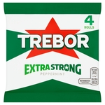 Trebor Extra Strong Mints Peppermint Roll 4 Pack