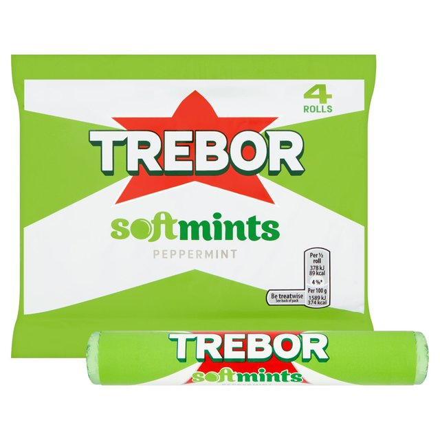 Trebor Softmints Peppermint Mints Roll 4 Pack