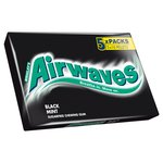 Airwaves Black Mint Sugarfree Chewing Gum 5 pack