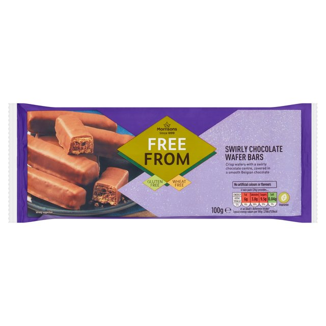 Morrisons Free From 5 Swirly Chocolate Wafer Bars