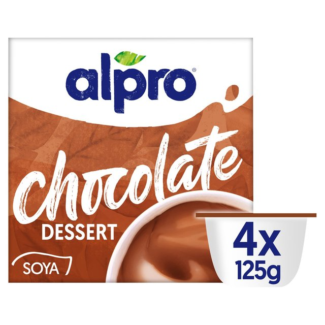Morrisons Alpro Smooth Chocolate Soya Dessert 4 X 125g