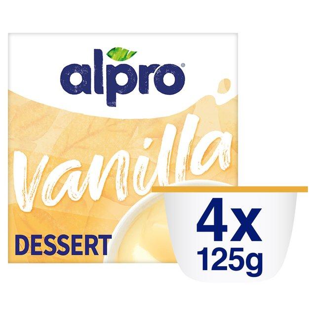 Morrisons Alpro Creamy Vanilla Soya Dessert 4 X 125g