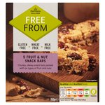 Morrisons Free From Fruit & Nut Snack Bar 5 Pack