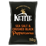 Kettle Chips Sea Salt & Crushed Black Pepper Crisps