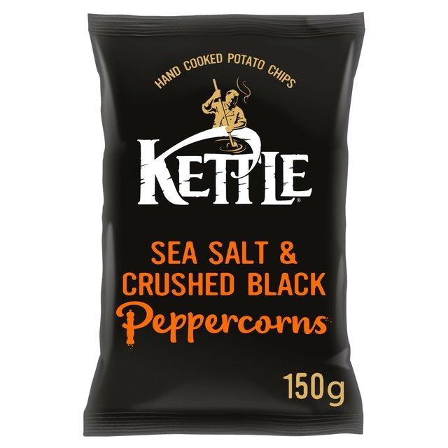 Kettle Chips Sea Salt & Crushed Black Pepper Crisps