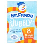 Jubbly  Orange Ice Lollies