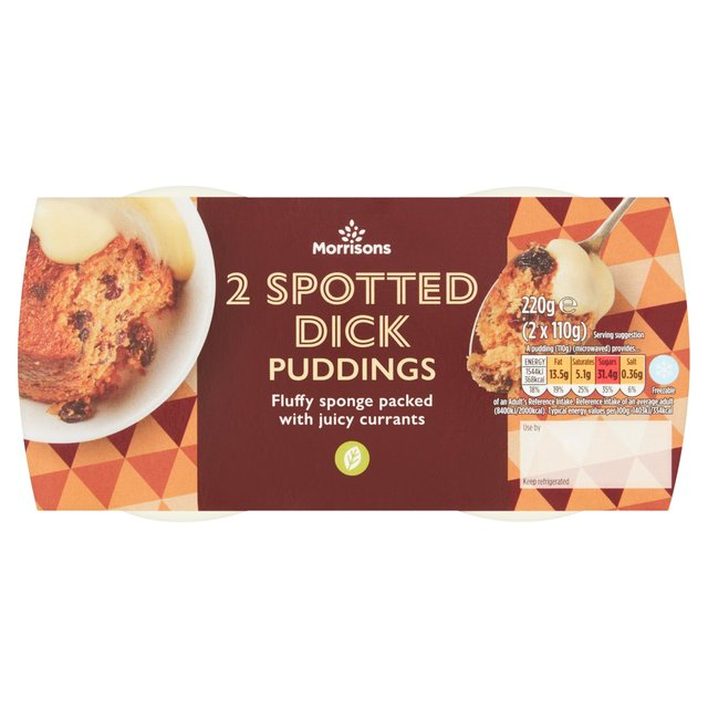 Morrisons Spotted Dick Puddings