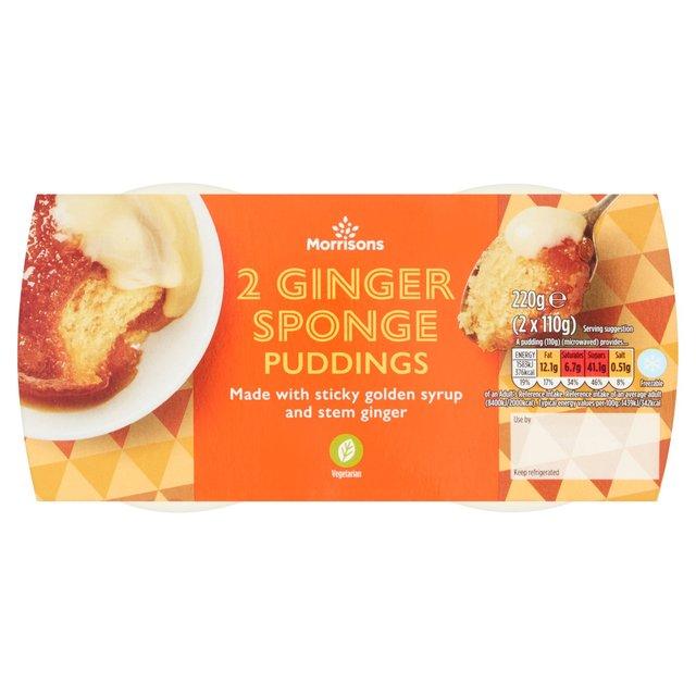 Morrisons Ginger Sponge Puddings