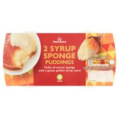 Morrisons Really Good Puds Syrup Sponge Puddings