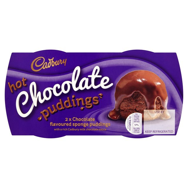 Morrisons Cadbury Hot Chocolate Sponge Puddings Product
